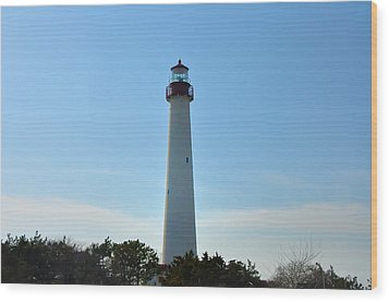The Beacon Of Cape May Wood Print by Bill Cannon