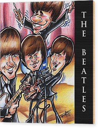 The Beatles Wood Print by Big Mike Roate