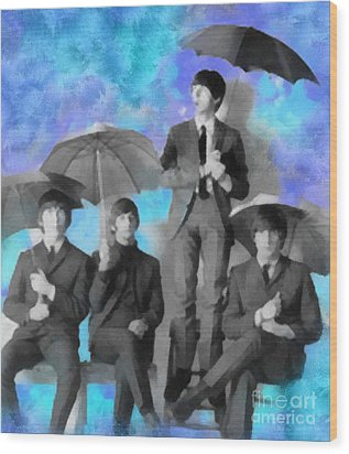 The Beatles Wood Print by Paulette B Wright