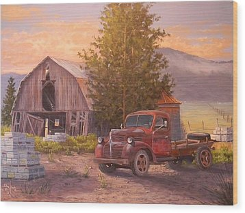 The Beekeepers Barn Wood Print