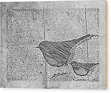 The Birds Wood Print by Tripti Singh