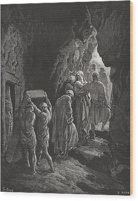 The Burial Of Sarah Wood Print by Gustave Dore