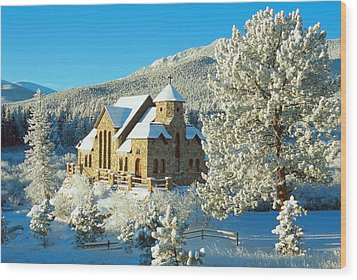 The Chapel On The Rock II Wood Print by Eric Glaser
