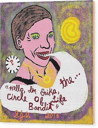 The Circle Of Life Bandit Wood Print by Joe Dillon
