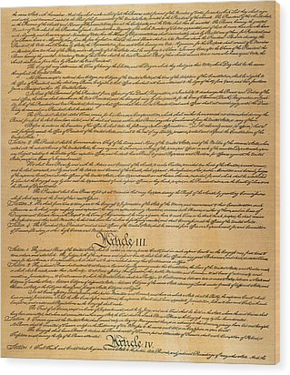 The Constitution, 1787 Wood Print by Granger
