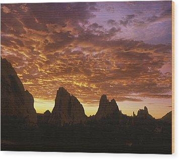 The Crimson Ripples  Wood Print by Bijan Pirnia