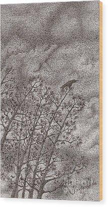 The Crow Wood Print by Wayne Hardee