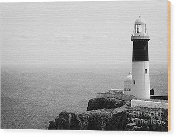 The East Light Lighthouse Altacarry Altacorry Head Rathlin Island Ireland Wood Print by Joe Fox