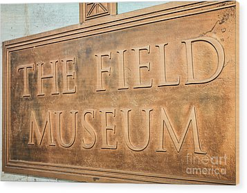 The Field Museum Sign In Chicago Illinois Wood Print by Paul Velgos