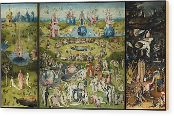 The Garden Of Earthly Delights Wood Print by Hieronymus Bosch