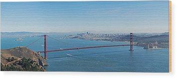 The Golden Gate Bridge Wood Print by Twenty Two North Photography