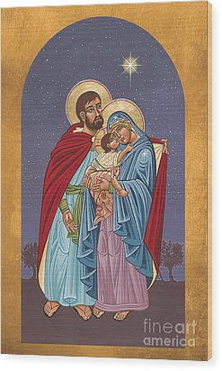 The Holy Family For The Holy Family Hospital Of Bethlehem 272 Wood Print by William Hart McNichols