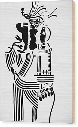 The Holy Family Wood Print by Gloria Ssali