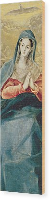 The Immaculate Conception  Wood Print by El Greco Domenico Theotocopuli