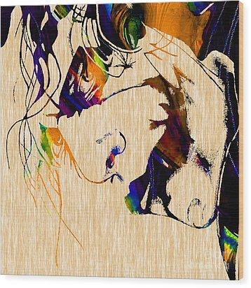 The Joker Heath Ledger Collection Wood Print