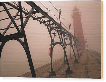 Wood Print featuring the photograph The Lighthouse by Jason Naudi Photography