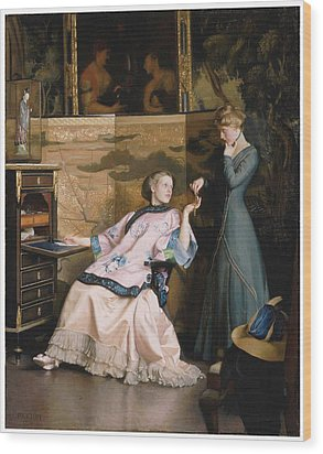The New Necklace Wood Print by William McGregor Paxton