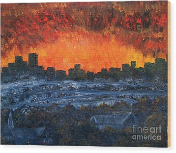 The Night The Lights Went Out Wood Print