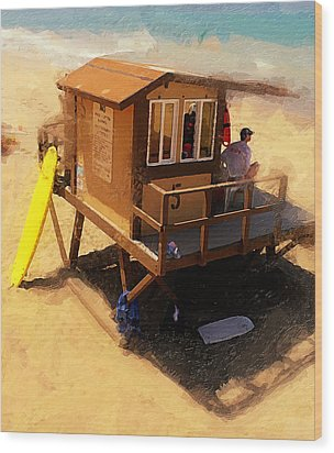 The Ocean Guard Wood Print by Ron Regalado