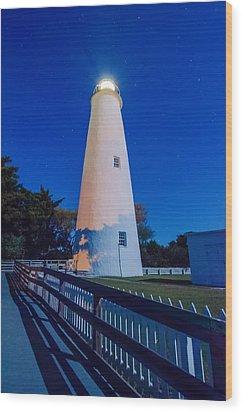 The Ocracoke Lighthouse On Ocracoke Island On The North Carolina Wood Print