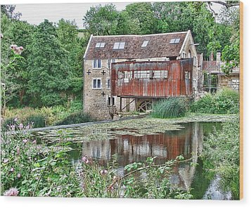 The Old Mill Avoncliff Wood Print by Paul Gulliver