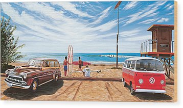 The Point San Onofre Wood Print by Steve Simon