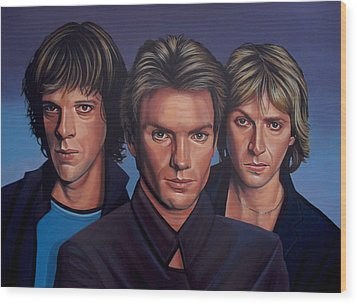 The Police Wood Print by Paul Meijering