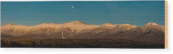 The Presidential Range White Mountains New Hampshire Wood Print by Brenda Jacobs