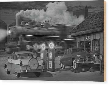 The Pumps Wood Print by Mike McGlothlen