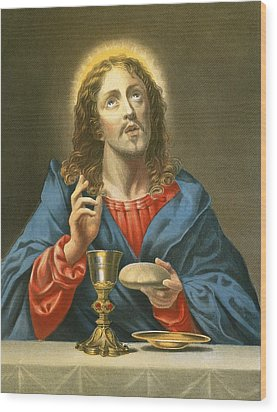 The Redeemer Wood Print by Carlo Dolci