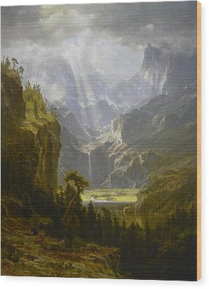 The Rocky Mountains Lander's Peak Wood Print