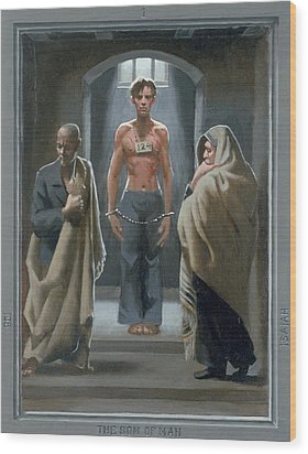 1. The Son Of Man With Job And Isaiah / From The Passion Of Christ - A Gay Vision Wood Print by Douglas Blanchard