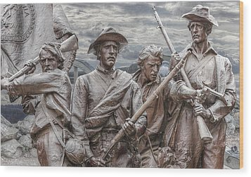 The South Will Rise Again Wood Print by Randy Steele