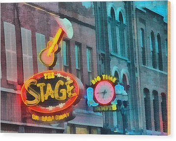 The Stage On Broadway Wood Print by Dan Sproul