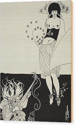 The Stomach Dance Wood Print by Aubrey Beardsley