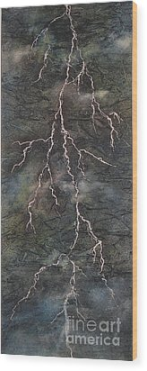 Wood Print featuring the painting The Storm by Chrisann Ellis