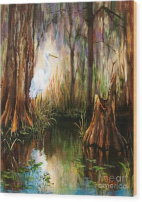 The Surveyor Wood Print by Dianne Parks