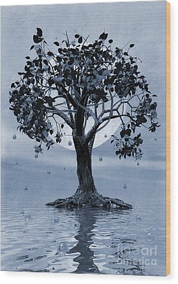 The Tree That Wept A Lake Of Tears Wood Print by John Edwards