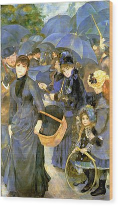 The Umbrellas Wood Print by Pierre Auguste Renoir