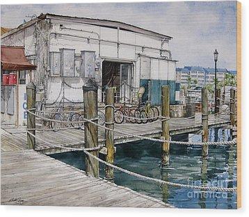 Thompson's Docks  Wood Print