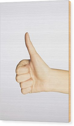 Thumbs Up Wood Print by Alan Marsh