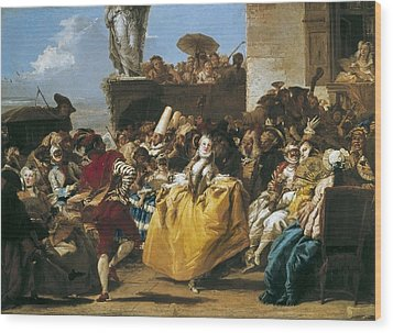 Tiepolo, Giovanni Domenico 1727-1804 Wood Print by Everett