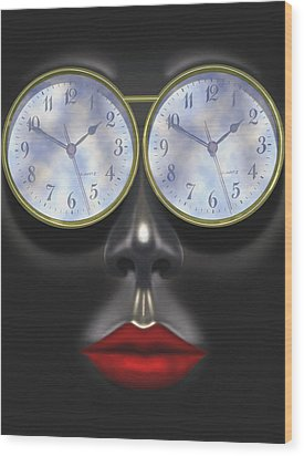 Time In Your Eyes Wood Print by Mike McGlothlen