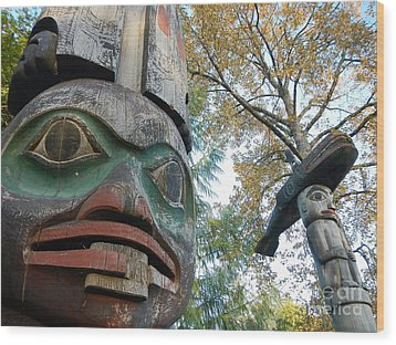Tlingit Totem Wood Print by Laura  Wong-Rose
