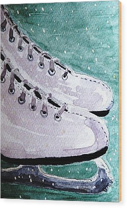 To Skate Wood Print by Angela Davies