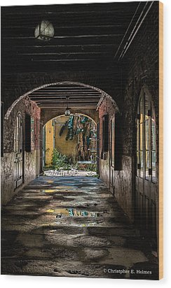 To The Courtyard Wood Print by Christopher Holmes