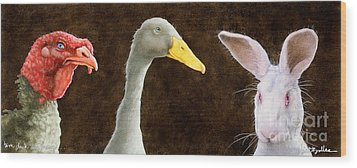 Tom Duck And Harry... Wood Print by Will Bullas