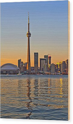 Wood Print featuring the photograph Toronto City View by Marek Poplawski