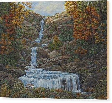 Tranquil Cove Wood Print by Crista Forest