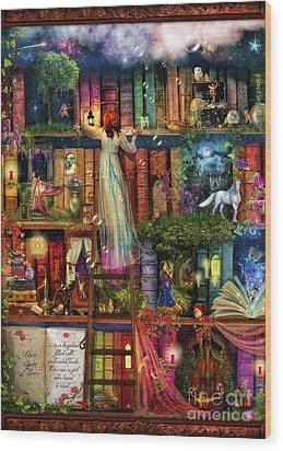 Treasure Hunt Book Shelf Wood Print